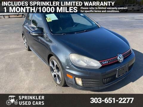 2010 Volkswagen GTI for sale at Sprinkler Used Cars in Longmont CO