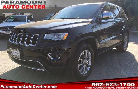 2015 Jeep Grand Cherokee for sale at PARAMOUNT AUTO CENTER in Downey CA