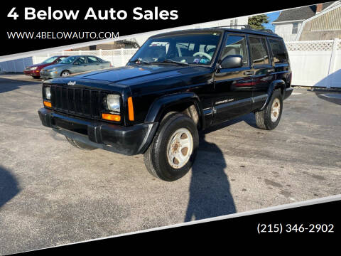 1999 Jeep Cherokee for sale at 4 Below Auto Sales in Willow Grove PA