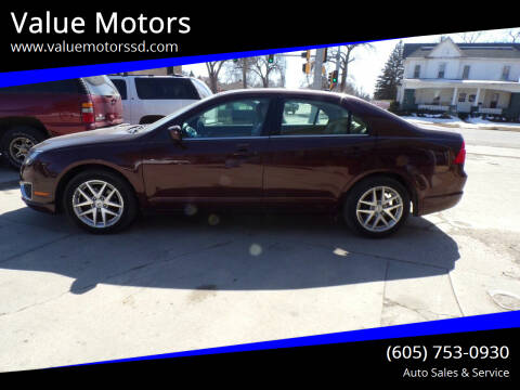 2012 Ford Fusion for sale at Value Motors in Watertown SD