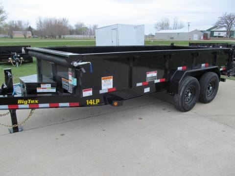 2021 Big Tex 14' DUMP TRAILER for sale at Flaherty's Hi-Tech Motorwerks in Albert Lea MN