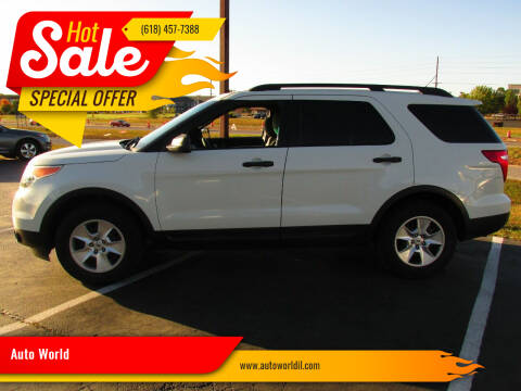 2011 Ford Explorer for sale at Auto World in Carbondale IL