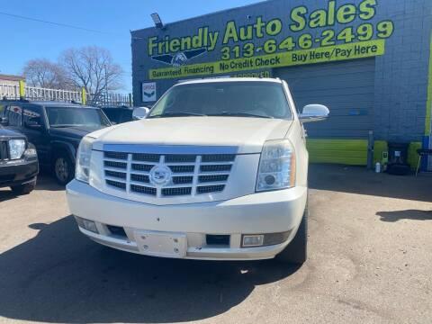 2008 Cadillac Escalade for sale at Friendly Auto Sales in Detroit MI