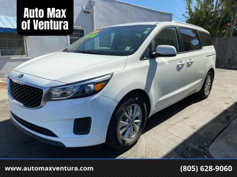 2016 Kia Sedona for sale at Auto Max of Ventura - Automax 3 in Ventura CA