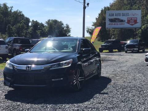 2016 Honda Accord for sale at A&M Auto Sales in Edgewood MD