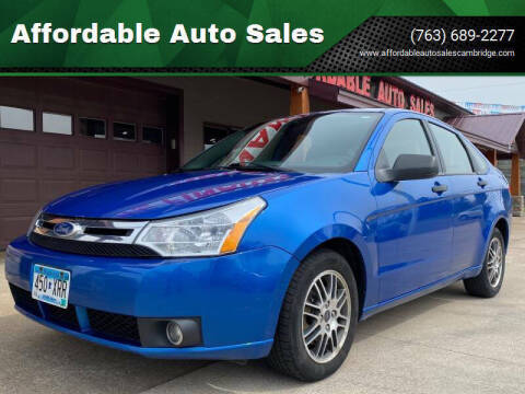 2010 Ford Focus for sale at Affordable Auto Sales in Cambridge MN