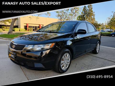 2012 Kia Forte for sale at FANASY AUTO SALES/EXPORT in Yorba Linda CA