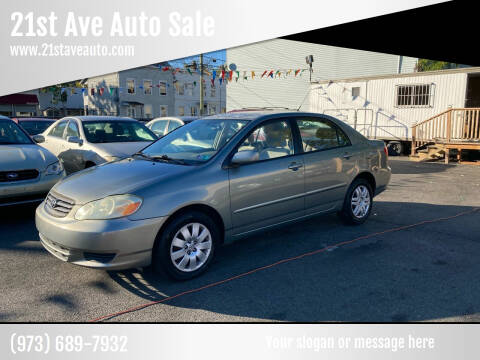 2004 Toyota Corolla for sale at 21st Ave Auto Sale in Paterson NJ