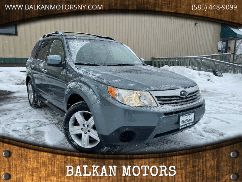 2009 Subaru Forester for sale at BALKAN MOTORS in East Rochester NY