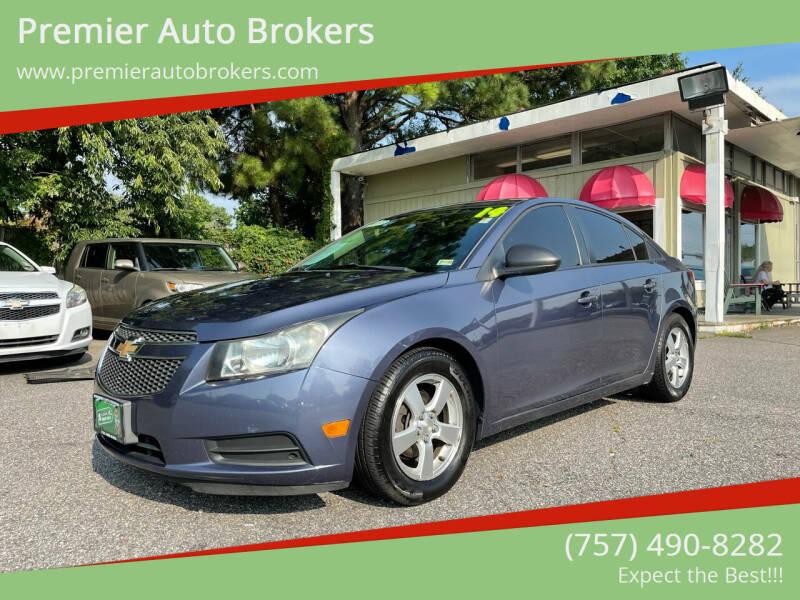 2014 Chevrolet Cruze for sale at Premier Auto Brokers in Virginia Beach VA