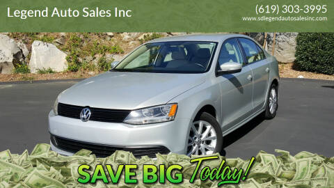 2011 Volkswagen Jetta for sale at Legend Auto Sales Inc in Lemon Grove CA