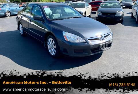 2006 Honda Accord for sale at American Motors Inc. - Belleville in Belleville IL