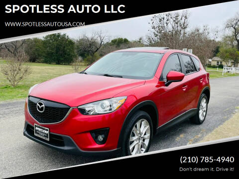 2015 Mazda CX-5 for sale at SPOTLESS AUTO LLC in San Antonio TX