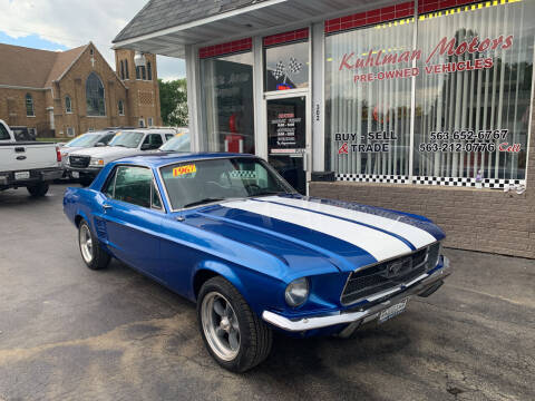 1967 Ford Mustang for sale at KUHLMAN MOTORS in Maquoketa IA