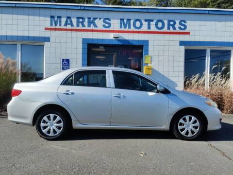 2009 Toyota Corolla for sale at Mark's Motors in Northampton MA
