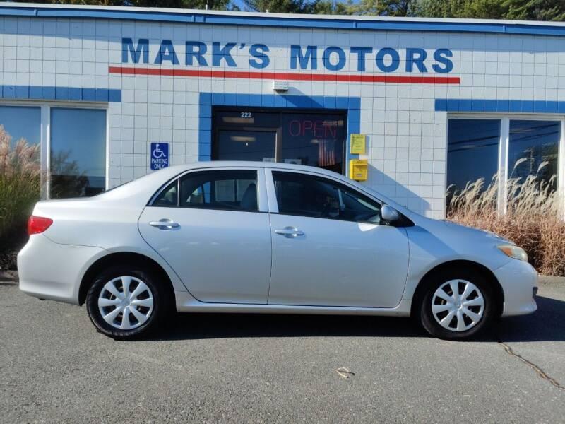 2009 Toyota Corolla for sale at Mark's Motors in Northampton MA