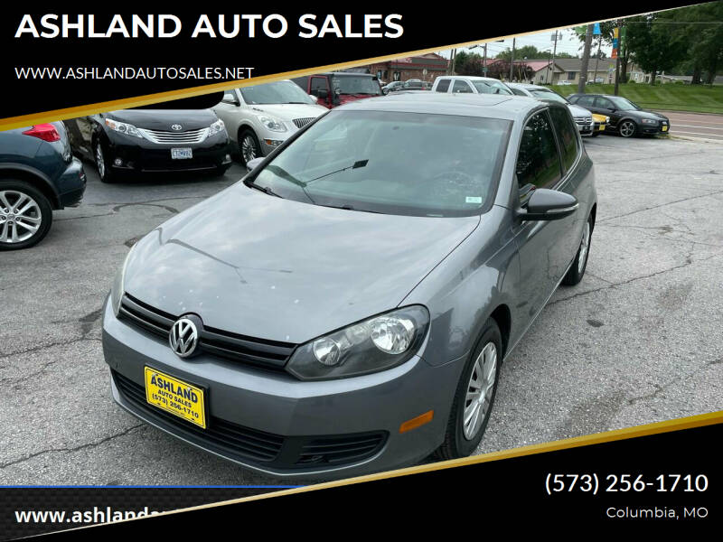 2012 Volkswagen Golf for sale at ASHLAND AUTO SALES in Columbia MO