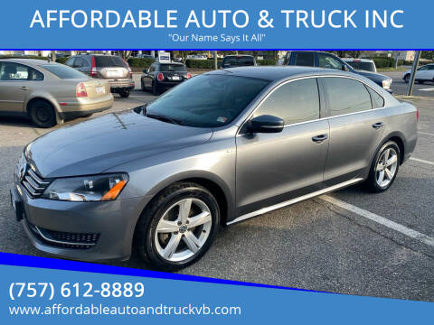 2014 Volkswagen Passat for sale at AFFORDABLE AUTO & TRUCK INC in Virginia Beach VA