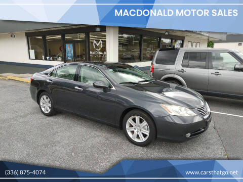 2008 Lexus ES 350 for sale at MacDonald Motor Sales in High Point NC