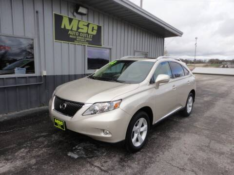 2012 Lexus RX 350 for sale at Moss Service Center-MSC Auto Outlet in West Union IA