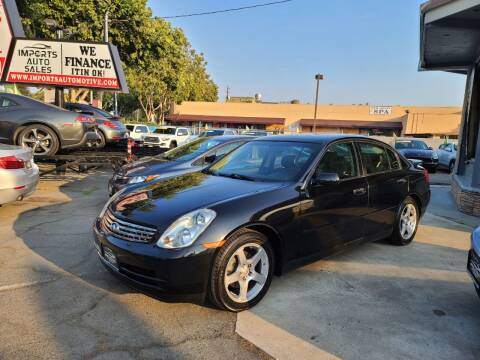 2004 Infiniti G35 for sale at Imports Auto Sales & Service in San Leandro CA