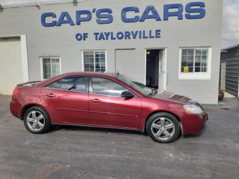 2008 Pontiac G6 for sale at Caps Cars Of Taylorville in Taylorville IL