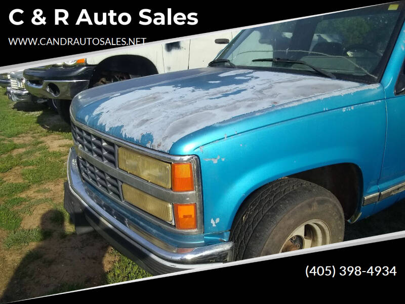 1992 Chevy Pickup for sale at C & R Auto Sales in Bowlegs OK