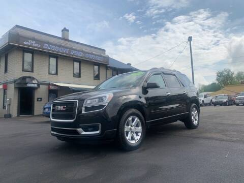2014 GMC Acadia for sale at Sisson Pre-Owned in Uniontown PA