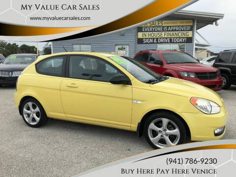2008 Hyundai Accent for sale at My Value Car Sales - Upcoming Cars in Venice FL