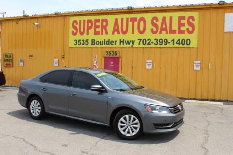 2015 Volkswagen Passat for sale at Super Auto Sales in Las Vegas NV
