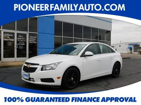 2014 Chevrolet Cruze for sale at Pioneer Family auto in Marietta OH