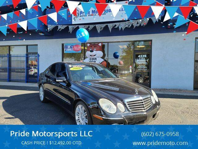 2008 Mercedes-Benz E-Class for sale at Pride Motorsports LLC in Phoenix AZ