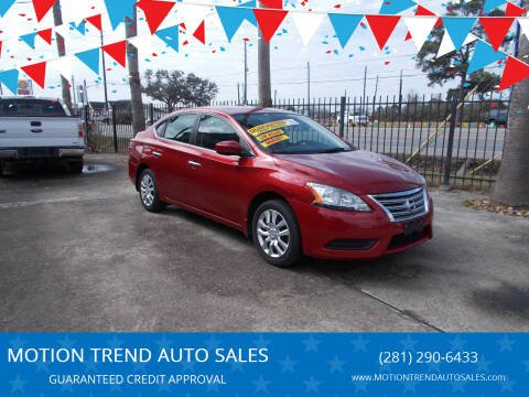 2014 Nissan Sentra for sale at MOTION TREND AUTO SALES in Tomball TX