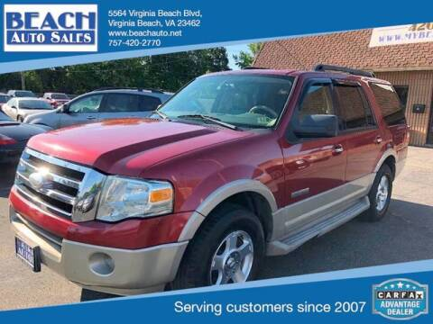2007 Ford Expedition for sale at Beach Auto Sales in Virginia Beach VA