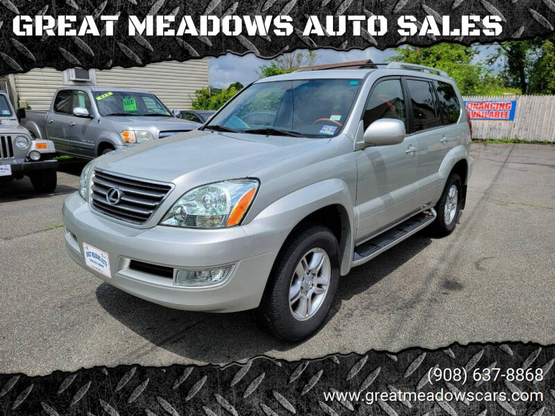 2004 Lexus GX 470 for sale at GREAT MEADOWS AUTO SALES in Great Meadows NJ