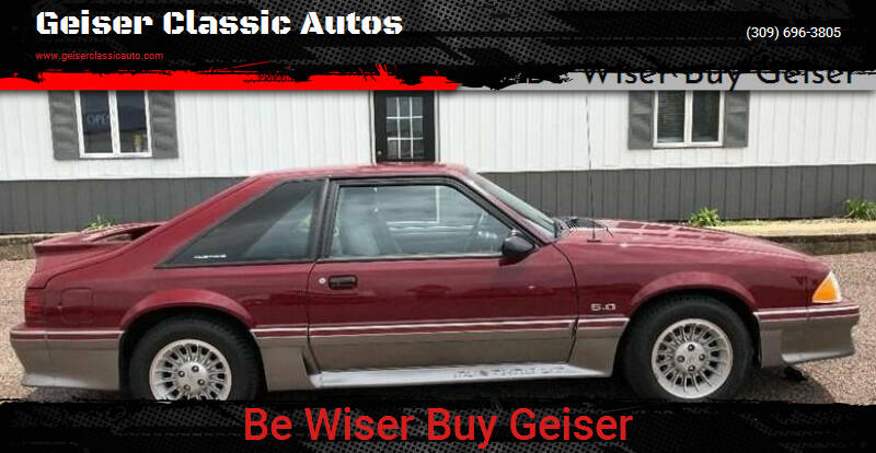 1989 Ford Mustang for sale at Geiser Classic Autos in Roanoke IL
