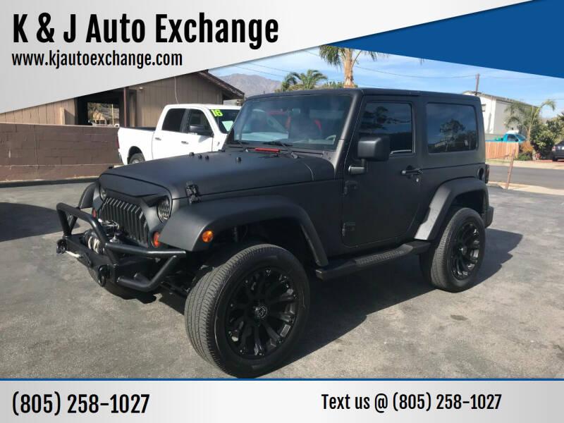 2009 Jeep Wrangler for sale at K & J Auto Exchange in Santa Paula CA