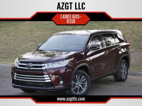 2019 Toyota Highlander for sale at AZGT LLC in Mesa AZ