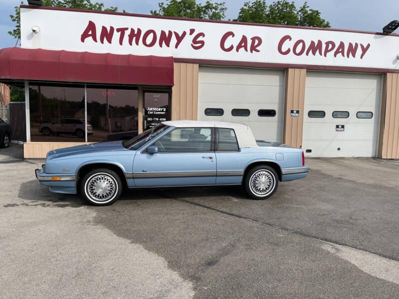 1990 Cadillac Eldorado for sale at Anthony's Car Company in Racine WI