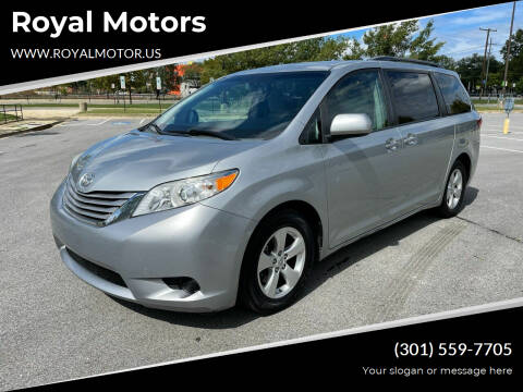 2015 Toyota Sienna for sale at Royal Motors in Hyattsville MD