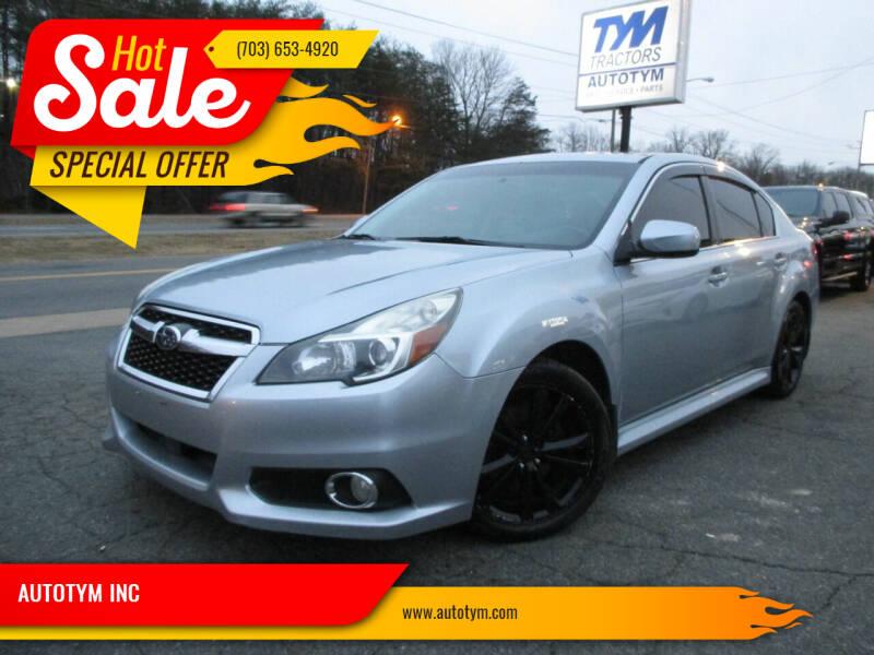 2013 Subaru Legacy for sale at AUTOTYM INC in Fredericksburg VA