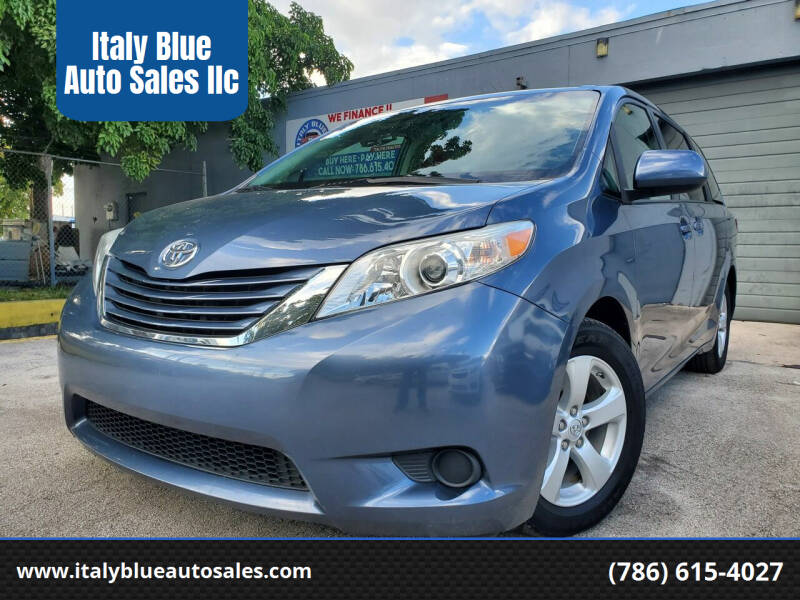 2015 Toyota Sienna for sale at Italy Blue Auto Sales llc in Miami FL