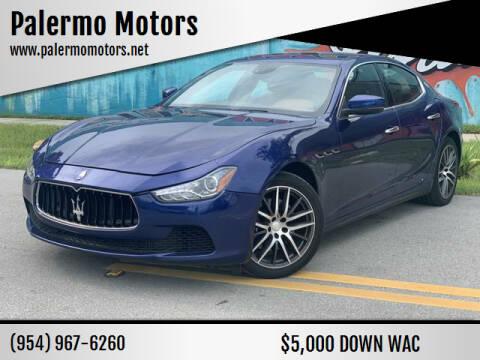 2017 Maserati Ghibli for sale at Palermo Motors in Hollywood FL