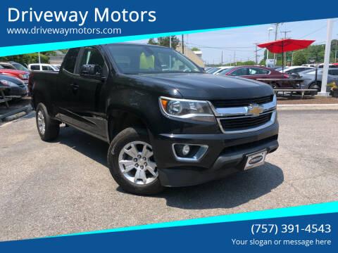 2016 Chevrolet Colorado for sale at Driveway Motors in Virginia Beach VA