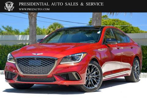 2018 Genesis G80 for sale at Presidential Auto  Sales & Service in Delray Beach FL
