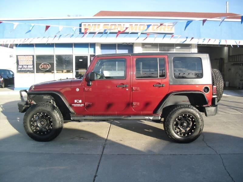 2008 Jeep Wrangler Unlimited for sale at Wilson Motors in Junction City KS