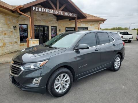 2018 Chevrolet Equinox for sale at Performance Motors Killeen Second Chance in Killeen TX