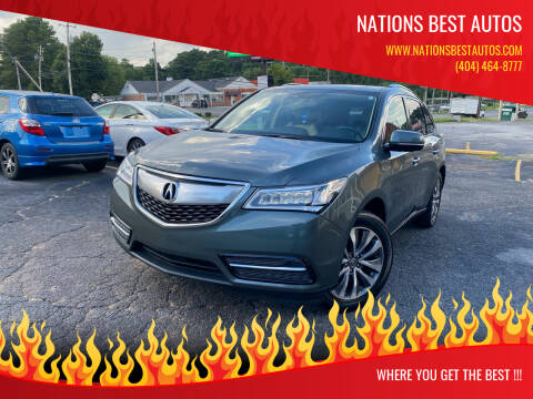 2015 Acura MDX for sale at Nations Best Autos in Decatur GA