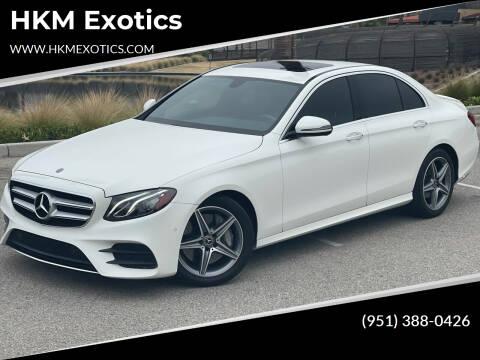2018 Mercedes-Benz E-Class for sale at HKM Exotics in Corona CA