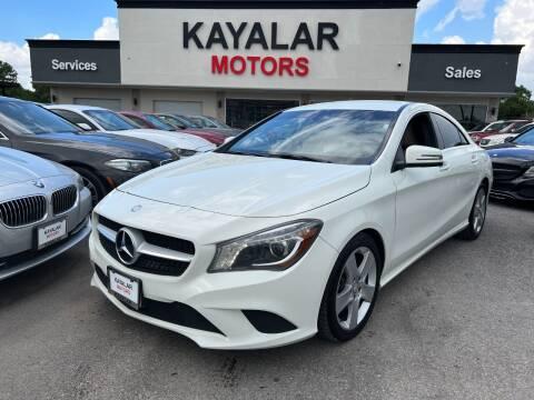 2015 Mercedes-Benz CLA for sale at KAYALAR MOTORS in Houston TX